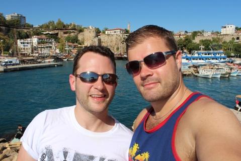 Ryan & Me at the Antalya Harbour