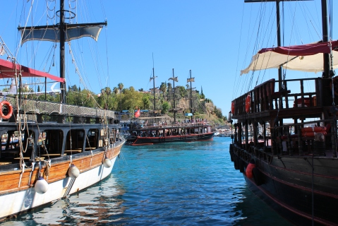 Boats at the Antalya Harbour