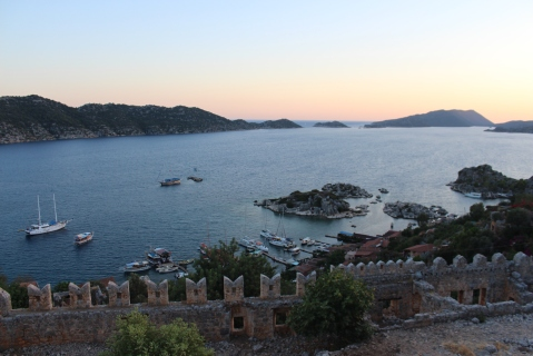 View from Simena Castle at Sunset
