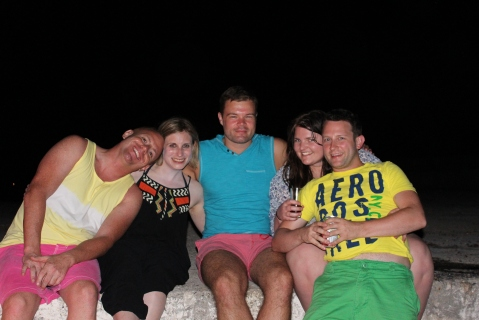 Tom, Jane, Me, Dacia & Ryan Having Drinks by the Fire