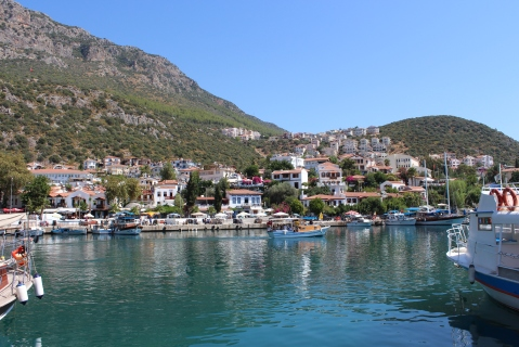 Looking Over Kaş Across the Harbour