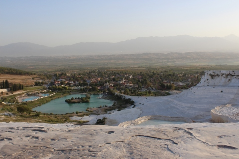 View of Pamukkale From the Top of The White Terraces