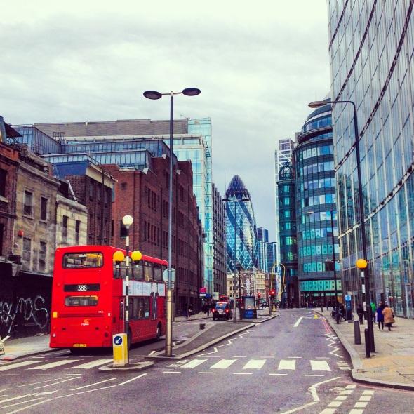 Double Decker in City of London