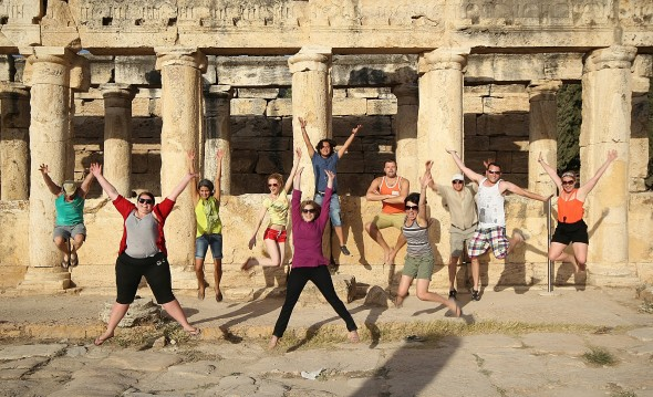 Jumping in the Ancient Roman Baths of Hierapolis - September 2013