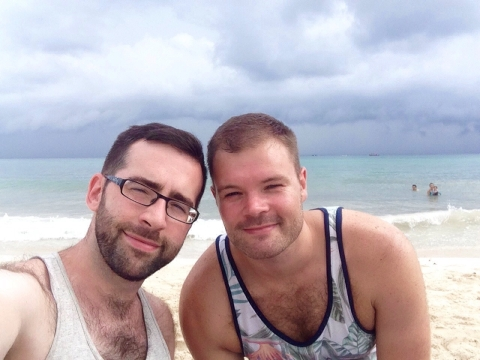 Eamonn & Me in Playa del Carmen, Mexico