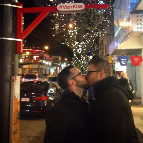 Kisses under the Mistletoe, Vancouver, Canada Christmas 2015