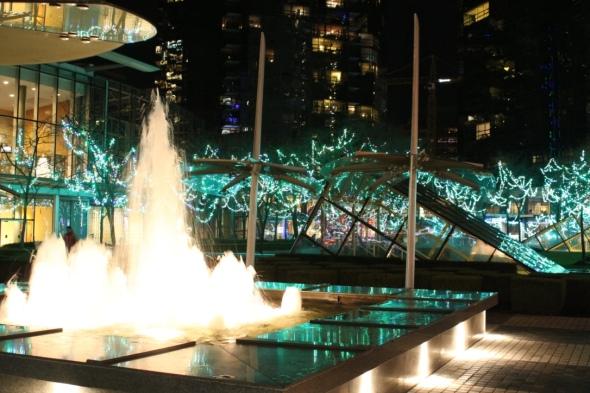 Christmas Lights at Wall Centre