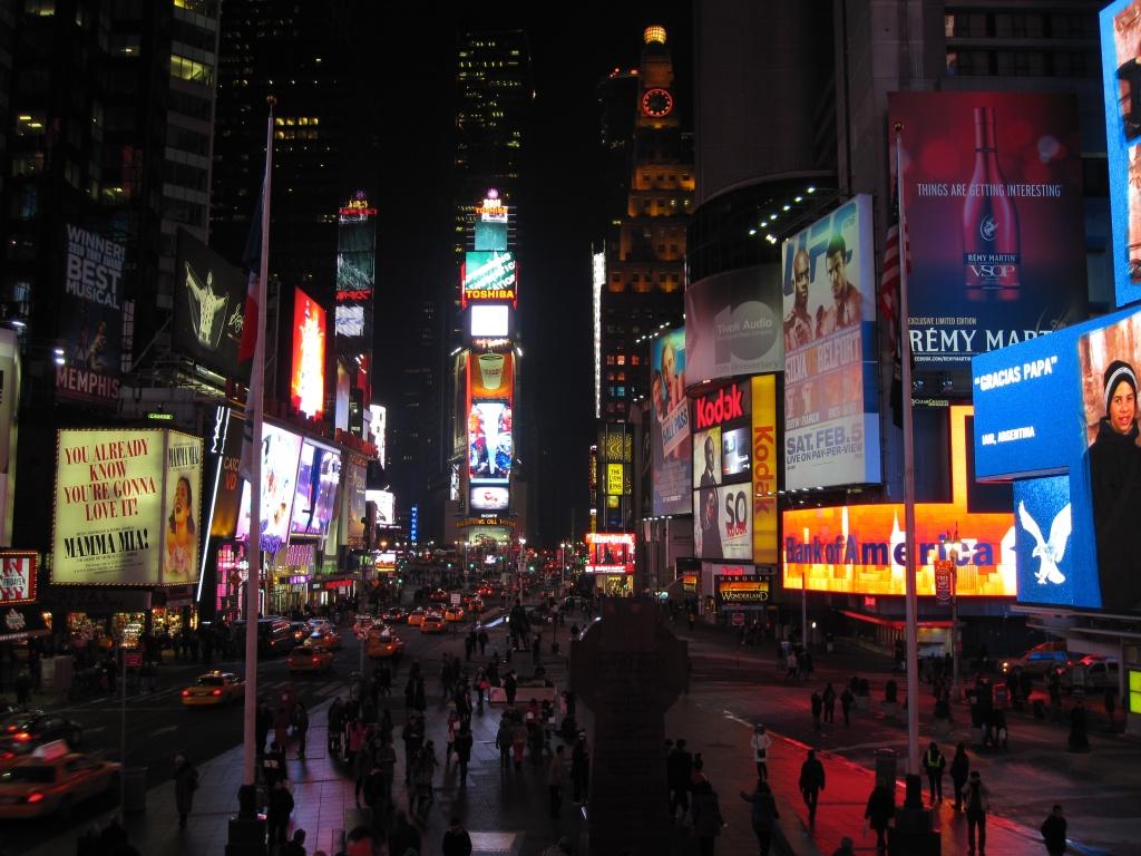 Times Square, January 2011