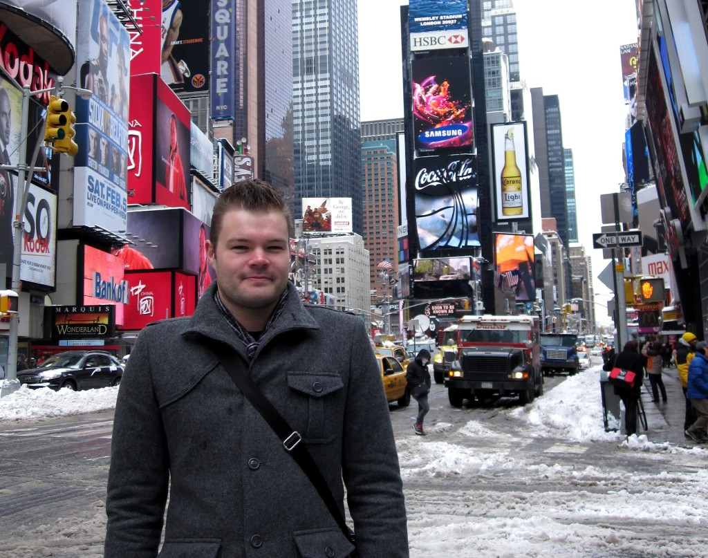 Me in Times Square - January 2011