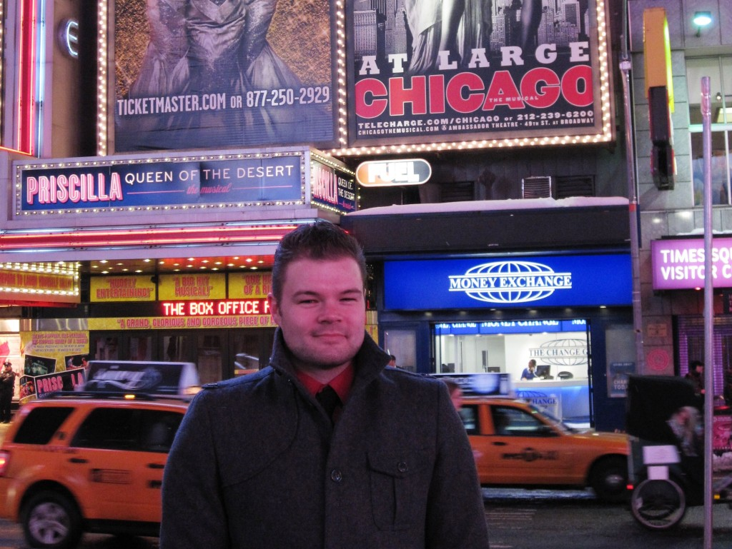 Me in Broadway - January 2011