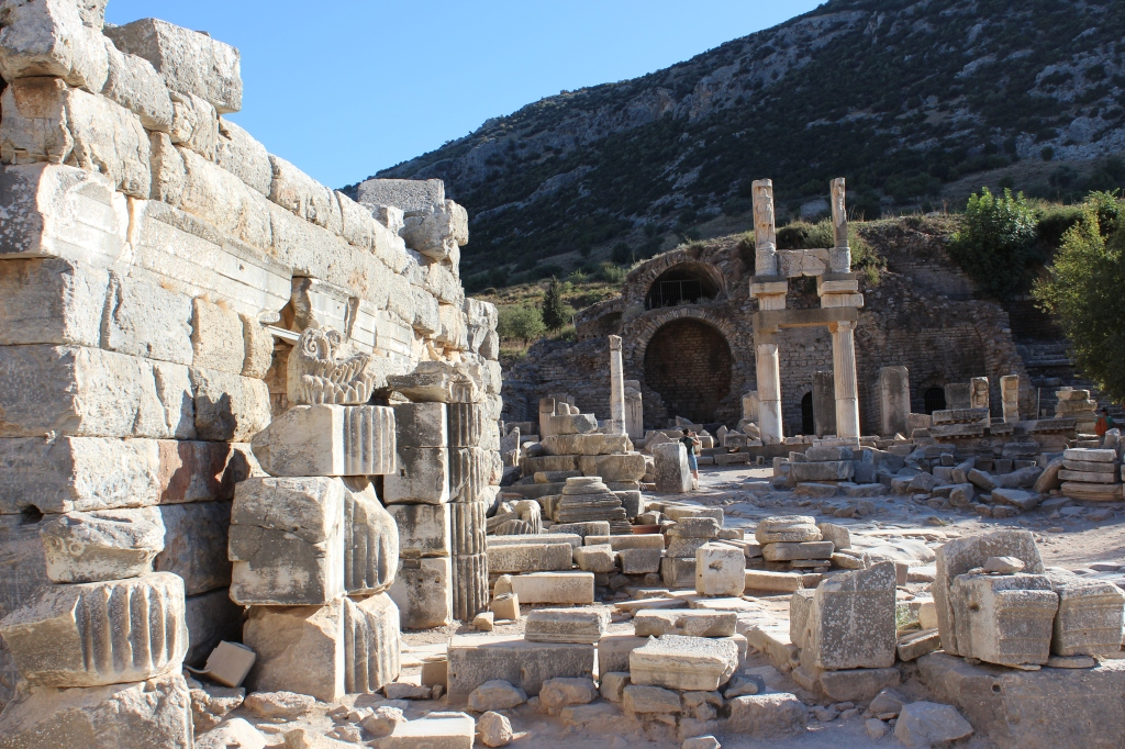Curates Street, running the whole length of the central ancient city of Ephesus