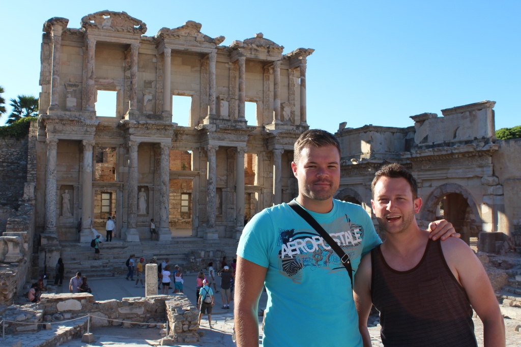 Me & Ryan by the Library of Celsus (135 AD), which one housed 12,000 scrolls in two floors!