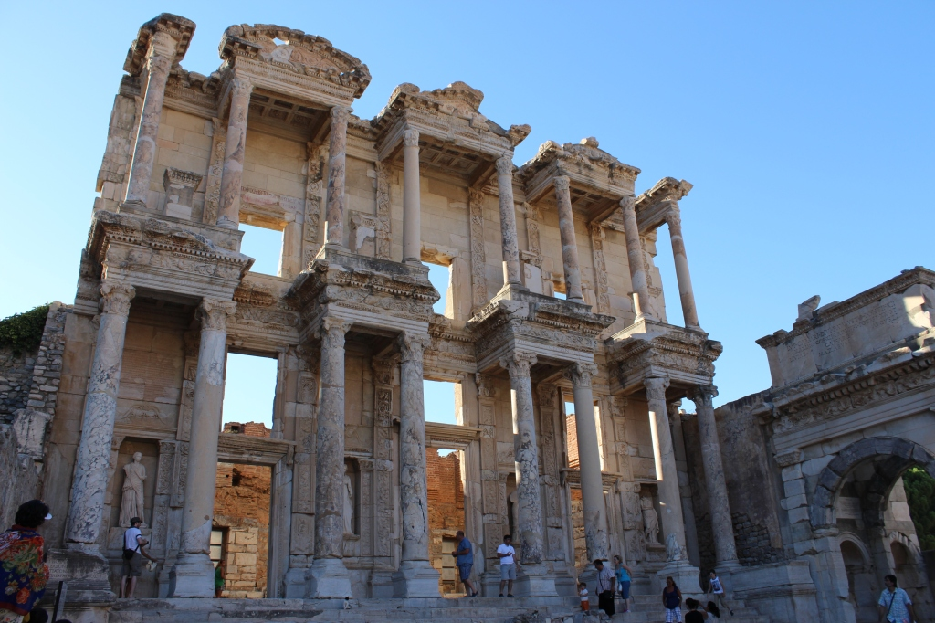 The two-story Celsus Library is mostly gone now, but the remains are still breathtaking