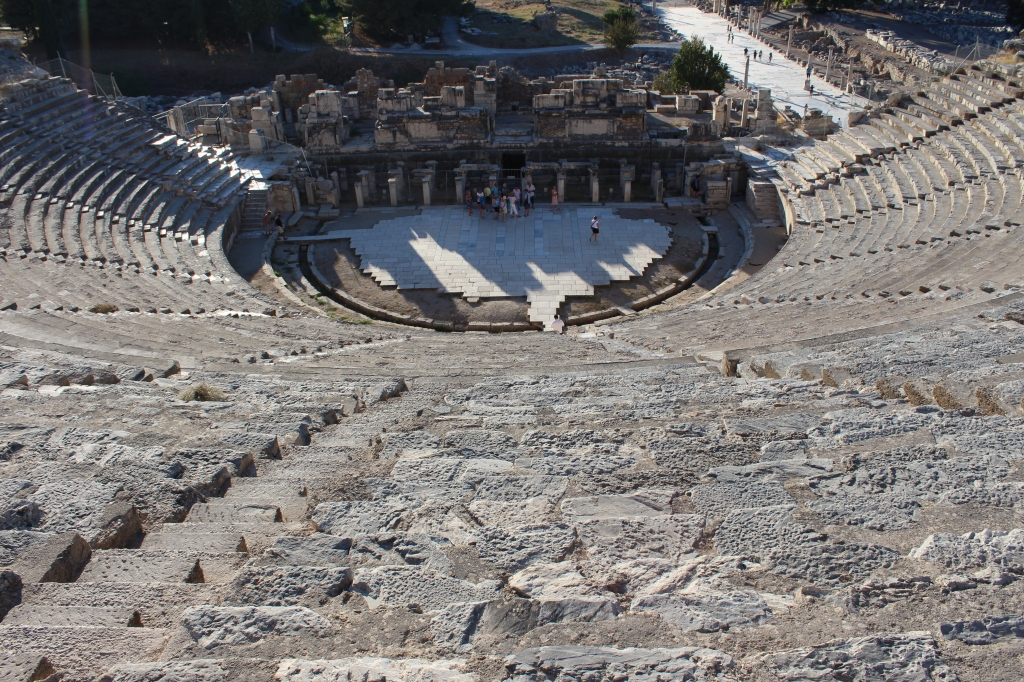 The Ephesus Amphitheatre seen from above