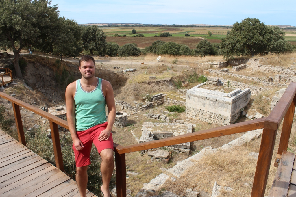 Me by some ruins in Troy, September 2013