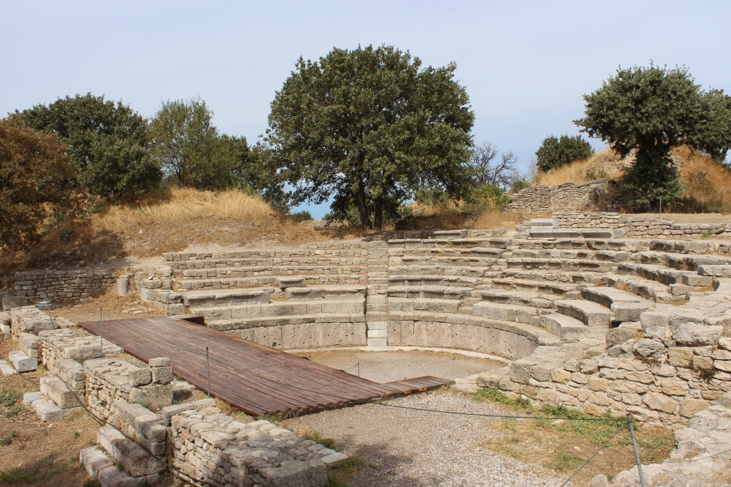 The Odeon, dating to Troy IX (Roman Troy, the last stage of the city)