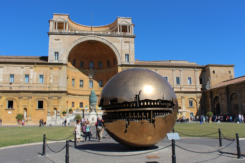 'Sphere within Sphere' by Arnaldo Comodoro in the Vatican Garden