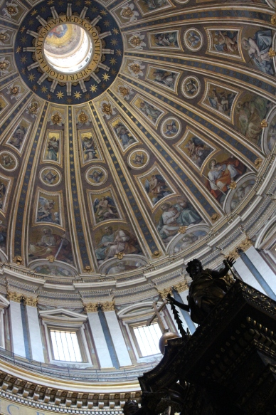 Inside the dome of St Peter's Basilica