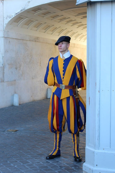 A Papal Swiss Guard