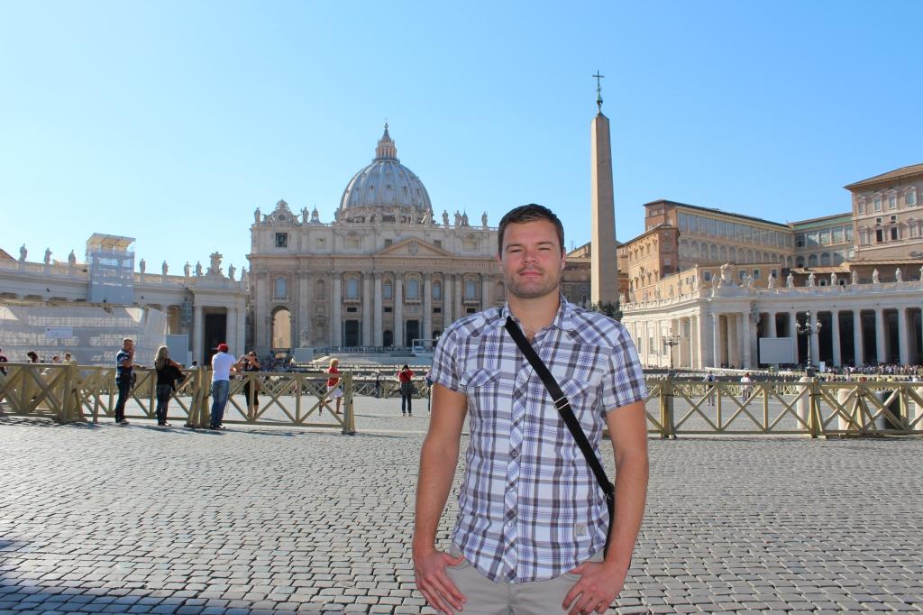 Me Outside St. Peter's Basilica - September 2013