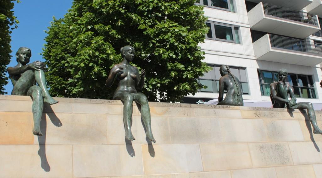 Statues of Women in Berlin Riverside